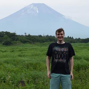 Student Branden Labarowski in Japan