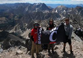 UC students at Mt. Borah