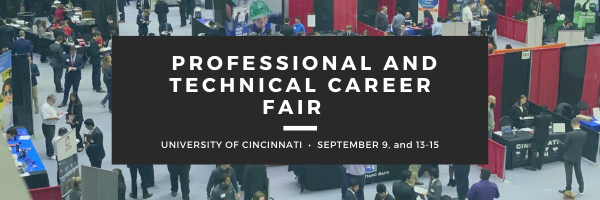 professional and technical career fair photo of students