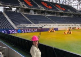 Co-op Student Emily Baxter at FC Cincinnati Stadium